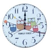 Relógio De Parede Família Coruja