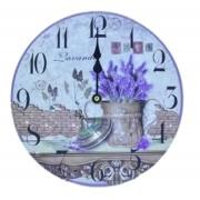 Relógio De Parede Lavanda