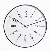 Relógio De Parede Metal Preto