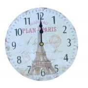 Relógio De Parede Plan De Paris