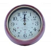 Relógio De Parede Retro La Beaujoalaise Vermelho