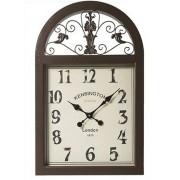 Relógio Janela Marrom 77x49x6cm