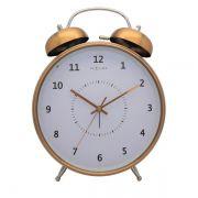 Relógio Mesa Despertador Copper Nextime 30X23Cm