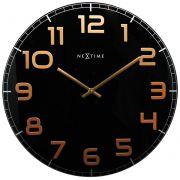 Relógio Parede Classy Round Black Copper Nextime