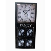 Relógio Parede Com Porta Retrato 4 Fotos