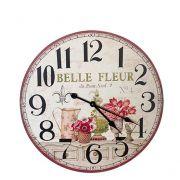 Relógio Parede em Mdf Flor Belle