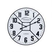 Relógio Parede Esmaltado Branco