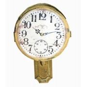 Relógio Parede Ferro Amarelo Tipo Sinal