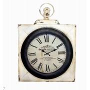 Relógio Parede Ferro Quadrado