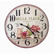 Relógio Parede Mdf Flor Belle Fleur