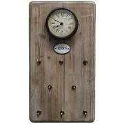 Relógio Porta Chaves Natural Keys Oldway 48x26x5cm