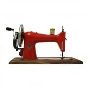 Réplica Máquina De Costura Modelo Vintage Singer Vermelha Em Ferro