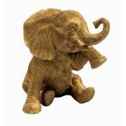 Resina Dourada - Elefante Veludo Lágrima P
