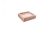 Saboneteira Cube Rose 10x10x2,5 Cm