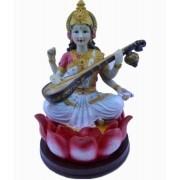 Estatua Imagem de Saraswati G De Resina Importado