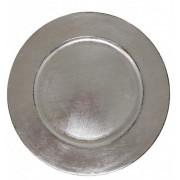 Sousplat Redondo Basic Prata 33cm - 1170