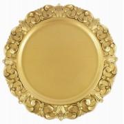 Sousplat Redondo Dourado 35cm - 430
