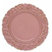 Sousplat Redondo Princess Rose Gold 36cm - 1191