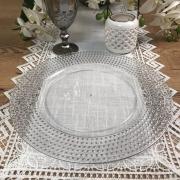 Sousplat Redondo Requinte Cristal Prata 33cm - 1176