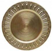Sousplat Redondo Romano Dourado 36cm - 1158