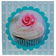 TELA IMPRESSA BLUE CUP CAKE FULLWAY 20X20X4CM