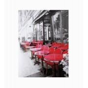 Tela Impressa Café Mesas Vermelhas