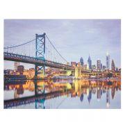 Tela Impressa Com Led Ponte Em New York Fulwway
