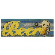 Tela Impressa com Metal e Led Beer Fullway 120x40x6cm