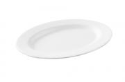 Travessa Oval Rasa Pasta Branco