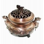 Turíbulo Defumador Incensario Metal Bronze Importado