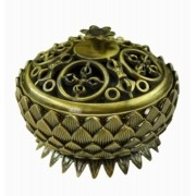 Turíbulo de Metal Dourado Envelhecido Importado