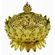 Turíbulo Defumador Incensario Metal Dourado Importado