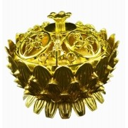 Turíbulo Defumador Incensario Metal Gg Dourado Importado