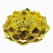 Turíbulo Defumador Incensario Dourado Metal Importado