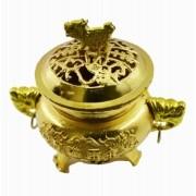Turíbulo Defumador Incensario Dourado Importado