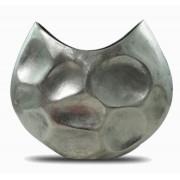 Vaso Alumínio Prateado Rústico 48x14,5x40cm
