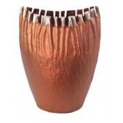 Vaso Alumínio Vinco Cobre Envelhecido 17x10x25
