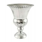 Vaso De Alumínio Brilhante Detalhes De Frisos