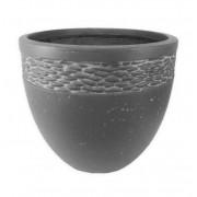 Vaso de Composto Mineral Cilíndrico Cinza 30x26cm
