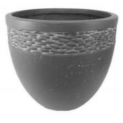 Vaso Decorativo Composto Mineral Cilíndrico 37x34,5cm