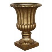 Vaso Decorativo Composto Mineral Taça Dourada 49x70cm