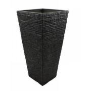 Vaso Decorativo de Composto Mineral Preto Ret. 51x54cm