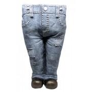 Vaso Para Jardim De Resina Jeans Calça