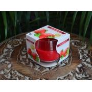 Vela Copo Aromática Perfumada Decorativa Morango