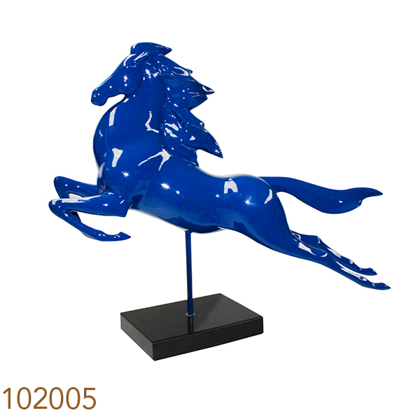 Escultura Cavalo Em Salto Azul Fullway 72x64x20cm  - Arrivo Mobile