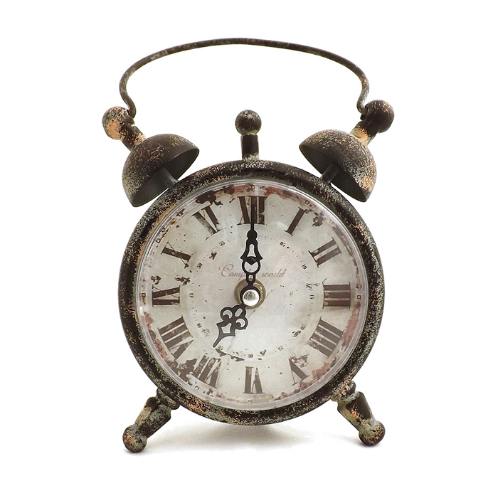 Relógio De Mesa Complete World Oldway - Metal E Vidro  - Arrivo Mobile