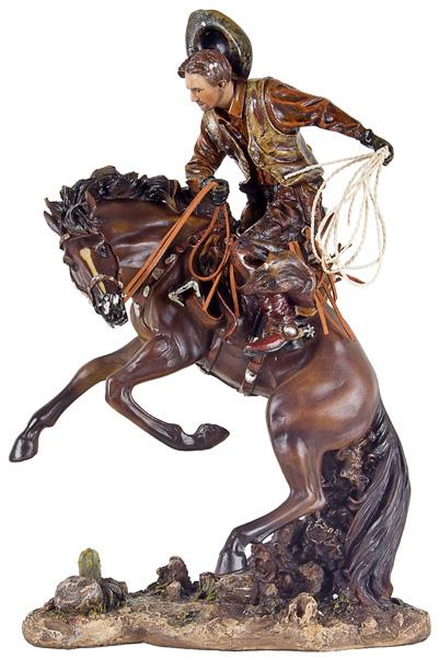 Cowboy Domando Cavalo Oldway 6X31X20Cm  - Arrivo Mobile