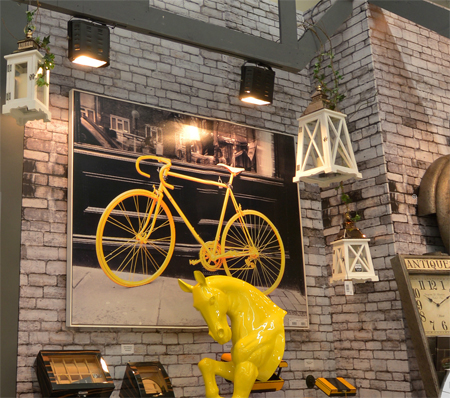 Tela Impressa Bicicleta Amarela Oldway 120x158x4cm  - Arrivo Mobile