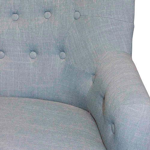 Sofá 2 Lugares Clássico Com Rodízios Linho Azul - Oldway  - Arrivo Mobile