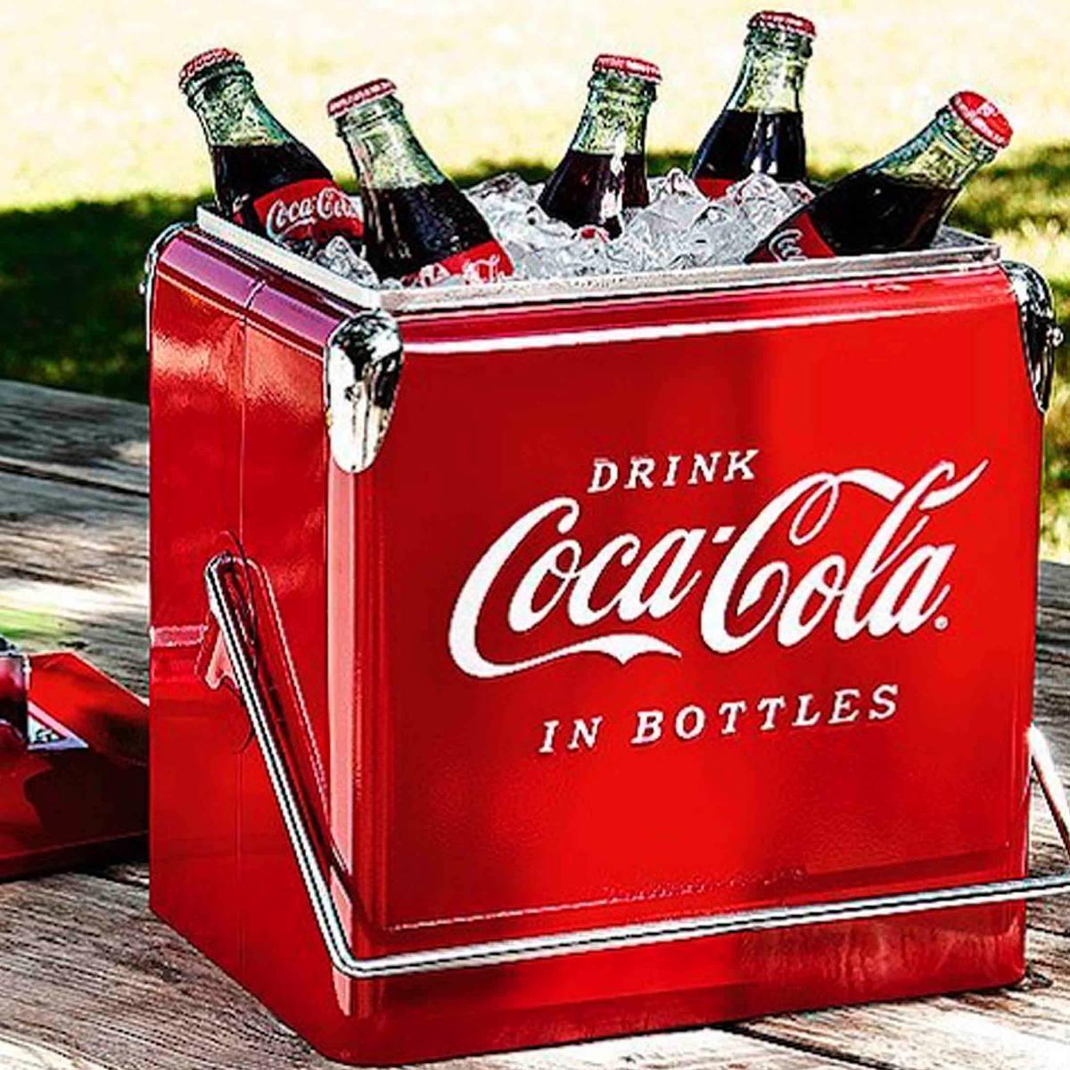 Cooler Coca Retro Vintage - Porta Bebidas Metal  - Arrivo Mobile